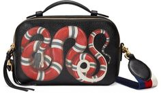 Snake print leather top handle bag by Gucci on ShopStyle.