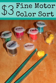 This sight word and color sorting game addresses fine motor skills in 2 ways.