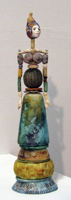 Folk art doll by Maureen Carlson