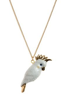 Cockatoo With Gold Beak Necklace | And Mary