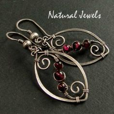 925 Sterling and Fine Silver Earrings AURORA by NaturalJewels, €27.50