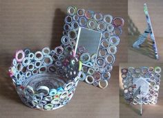creative ways to recycle newspaper Recycled Paper Crafts, Recycled Magazines, New Crafts, Crafts For Kids, Arts And Crafts, Quilling Craft, Paper Quilling, Craft From Waste Material, Inside Art