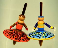 20 Toy Spinning Tops - Executive Collection - Wood - Handmade Spin Tops by Joshua Andra. $100.00, via Etsy.