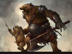 ursine warrior and cub by *sandara on deviantART