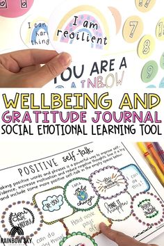 In this bundle teachers will find everything they need to encourage social emotional well-being with their students. We have included journals, activities, bulletin boards, and more! Students will love the daily affirmations for their emotional health. Products come in a digital version for online learning, and printable for in-person classes! Learning Resources, Student Learning, Teaching Kids, Rainbow Sky, Positive Self Talk, Australian Curriculum, Social Emotional Learning, New Teachers, Health Products