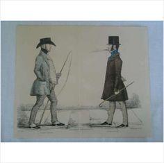 Modern Athenians - Prominent Edinburgh Gentlemen - 1847 Print - Sheet No 30