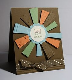Cute Birthday Card!  Love the color combo!