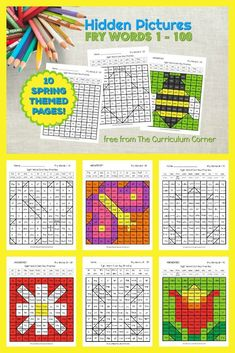 Practice sight words with these free Spring Fry Word Hidden Pictures (for words 1 - Another free resource for teachers from The Curriculum Corner. Fry Words, Fry Sight Words, Sight Word Practice, Sight Word Centers, Word Work Centers, Sight Word Activities, Reading Resources, Teacher Resources, Reading Games