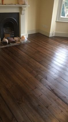 Restoring old wooden floors in a Victorian house
