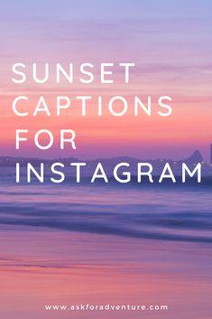Instagram Captions Sunset, Sunset Quotes Instagram, Instagram Picture Quotes, Instagram Beach, Simple Captions For Instagram, Instagram Posts, Captions For Beach Pictures, Lake Captions, Sunset Pictures