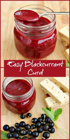 Make your own blackcurrant curd at home using fresh blackcurrants to preserve all that fruity goodness and enjoy it with your favourite desserts via mix everything then cook the custard Jam Recipes, Pastry Recipes, Canning Recipes, Fruit Recipes, Sauce Recipes, Sweet Recipes, Dessert Recipes, Desserts, Flan