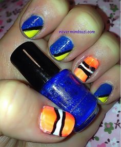 Never mind Suzi: Disney Nail Art Challenge - Finding Nemo