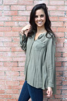 Coco Olive Blouse from Shop Southern Roots TX
