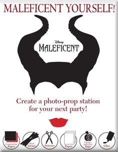 Maleficent Yourself! Perfect fun for Halloween!  http://www.wdistudio.com/MAL/pnt/MAL_malYS.pdf