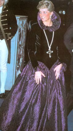 rare princess diana photos Diana wore this Mary, Queen of Scots inspired gown to a charity function in 1987. She later had the collar and sleeves removed and made it strapless.