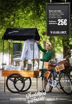 anna mari, Vasabladets VD testar säljkärran inför Konstens natt.Blev en bra helhet.