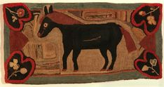Extraordinary Hooked Rug of a Horse (SOLD)