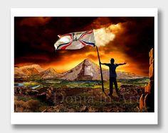 Assyrian Art Flag of Assyria Assyrian Gifts Assyrian by DoniainArt