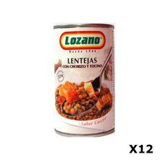 Bestelling Linzen met Chorizo PN 400Gr  - Lozano