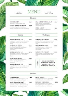 1 Menu Template, 10 Ways - Hack Your Visual Design Series Keep your menus fresh, up-to-date and looking delicious with Easil's menu template selection and menu maker. We show you how to take one menu template design and change it 10 unique ways. Menu Restaurant, Menu Bar, Restaurant Design, The Menu, Restaurant Menu Template, Drink Menu Design, Cafe Menu Design, Menu Card Design, Menu Design Templates