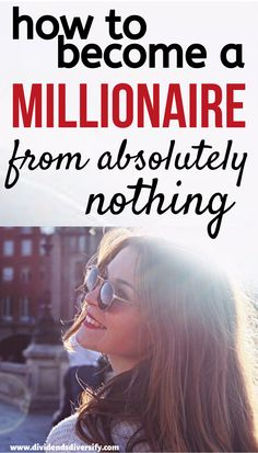 Learn how to become a millionaire from nothing. It's not just about saving your way to a million dollars, it's all about how to create real wealth. Mo Money, Money Tips, Earn Money, Creating Wealth, Wealth Creation, Become A Millionaire, How To Become Rich, Financial Success, Budgeting Money