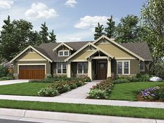 ePlans Craftsman Style House Plan – Attractive Craftsman With Workshop Garage – 1868 Square Feet and 3 Bedrooms from ePlans – House Plan Code HWEPL77165