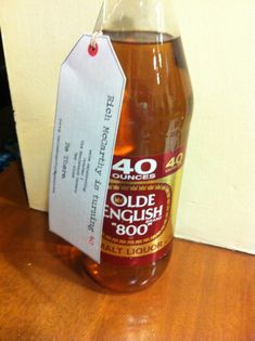 Great idea for a 40th birthday invite.  dropped off on people's doorsteps.