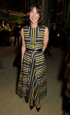 SAMANTHA Cameron appeared to be enjoying life away from Downing Street as she rubbed shoulders with TV stars and models at London Fashion Week. City Style, Her Style, Samantha Cameron, Silk Coat, Mature Fashion, Power Dressing, Cara Delevingne, Fashion Labels, British Style