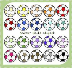 Sale! Soccer Clipart, Sports Clipart, Soccer Balls Clipart, World Cup Clipart, Fitness, Football, Instant Download, Clipart Png #soccerworkoutsforkids