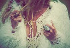 those rings and that dress <3