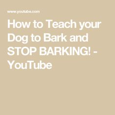 How to train your dog to Speak or Bark and Stop Barking This video is sponsored by Petflow! PETFLOW'S *NEW* OFFER: Enter discount code at checkout to g. Pet Food Delivery, How To Train Your, Training Your Dog, Teaching, Dogs, Youtube, Doggies, Learning, Youtubers