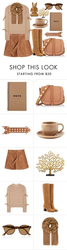 """""""Suede"""" by meledo ❤ liked on Polyvore featuring Jérôme Dreyfuss, Dot & Bo, Toast, Calypso St. Barth, Michael Aram, Jil Sander, Ray-Ban, Faliero Sarti and NOVICA"""