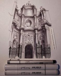 Valencia Cathedral. Churches and Cathedrals Urban Architectural Drawings. By Lorenzo Concas.