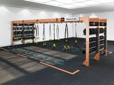 A modular dynamic training environment developed for energizing and socially engaged workouts. Complete scalability for all commercial facility types.