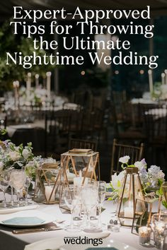 Expert-Approved Tips for Throwing the Ultimate Nighttime Wedding Wedding Trends, Wedding Tips, Wedding Venues, Best Color Schemes, Wedding Color Schemes, Night Time Wedding, Summer Wedding, Best Wedding Colors, Martha Stewart Weddings