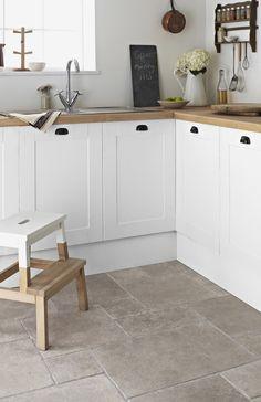 12 best Scandinavian interior design tips and ideas - Decoration For Home Beige Kitchen, New Kitchen, Kitchen Decor, Country Kitchen Flooring, Kitchen Sink, Scandinavian Kitchen, Scandinavian Interior Design, Topps Tiles, Limestone Flooring