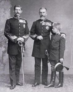 """Carol I of Romania with his nephew Ferdinand I and great nephew Carol II. Everyone chime in now! """"We three kings of Romania are. Princess Victoria, Queen Victoria, Michael I Of Romania, History Of Romania, Romanian Royal Family, Romanian Flag, Gaulle, Central And Eastern Europe, Young Prince"""