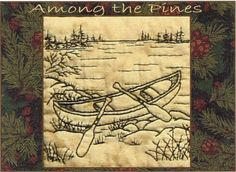 Among the Pines - Canoe - Redwork Hand Embroidery Pattern by Beth Ritter - Instant Digital Download