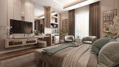Dream Master Bedroom, Master Bedroom Interior, Room Design Bedroom, Girl Bedroom Designs, Home Room Design, Bedroom Ideas, Elegant Bedroom Design, Modern Luxury Bedroom, Luxury Rooms