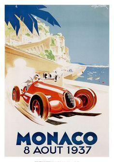 Grand Prix de Monaco 1937 Vintage Poster