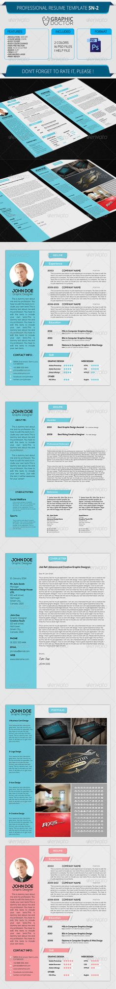 FREE EDIT - 4 Resume Templates + 2 FREE Cover Letter Templates - resume templates it professional