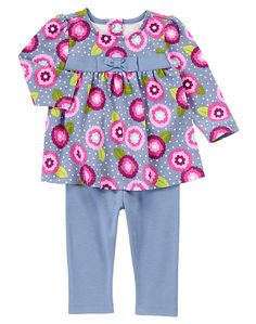 Gymboree Blooms All Over Two Piece Set