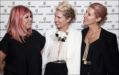 Renya Xydis @Valonz Haircutters with Sarah-Jane Clarke and Heidi Middleton from @sass & bide