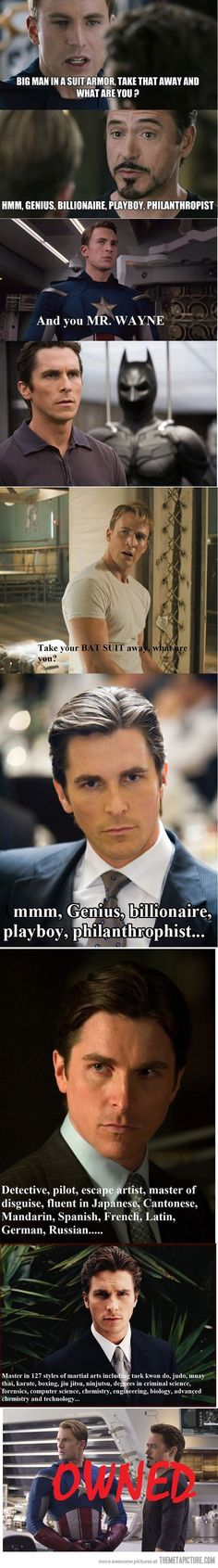 Bruce Wayne will always be the KING!!!! (::