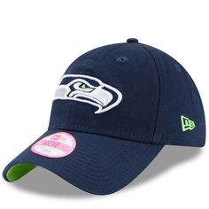 Seattle Seahawks New Era Women s Preferred Pick 9TWENTY Adjustable Hat - College  Navy 1c53935760b3
