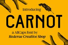 CARNOT AllCaps font by Hederae Creative Shop on @creativemarket