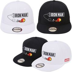 Mens Womens Marvel Avengers Civil War Flying Ironman Baseball Snapback Hats Caps #Marvel #BaseballSnapbackCapHats