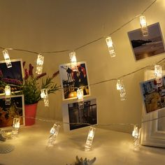 Humble 1.2m 10 Led Card Picture Photo Clips Pegs Bright String Light Lamp Indoor Gifts Led Lamps Led Table Lamps