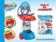 Kids Learning Educational Toy Doctor Play Set Trolley,Doctor Kit