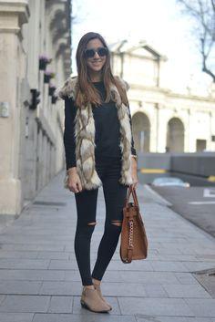 Silvia´s closet: Black+Camel Look